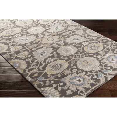 Eleana Hand-Tufted Gray/Neutral Area Rug Rug Size: 5 x 76