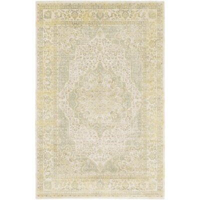 Florac Yellow/Green Area Rug Rug Size: 51 x 76