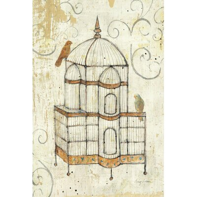 Bird Cage I Painting Print on Wrapped Canvas