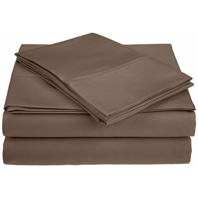 Saine 450 Thread Count 100% Cotton Sheet Set Size: Queen, Color: Taupe