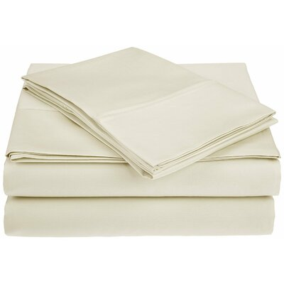 Saine 450 Thread Count 100% Cotton Sheet Set Size: Queen, Color: Ivory