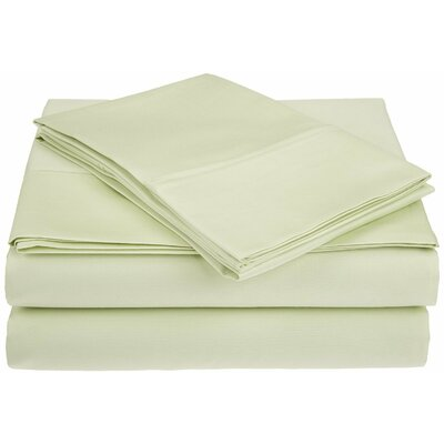 Saine 450 Thread Count 100% Cotton Sheet Set Size: King, Color: Sage