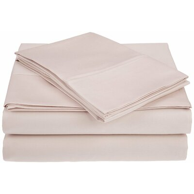 Saine 450 Thread Count 100% Cotton Sheet Set Size: California King, Color: Pink