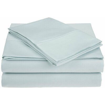 Saine 450 Thread Count 100% Cotton Sheet Set Size: Queen, Color: Light Blue