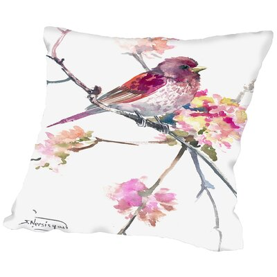 Conesville Rosefinch Throw Pillow Size: 16 H x 16 W x 2 D