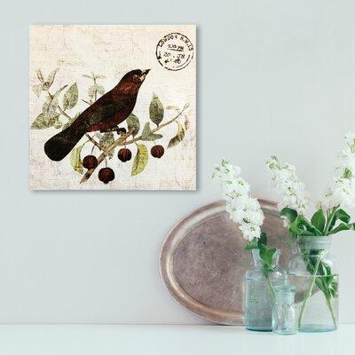 Bird in the Tree II Graphic Art on Plaque