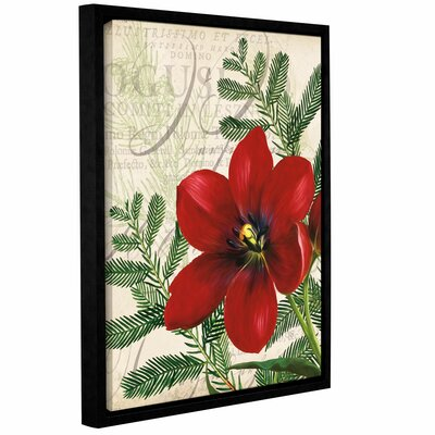 Vintage Noel Framed Graphic Art on Wrapped Canvas