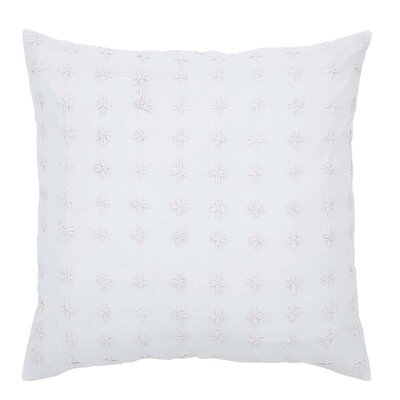 Adella Euro Sham Color: White