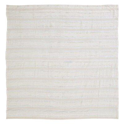 Willandra 100% Cotton Shower Curtain Color: Creme