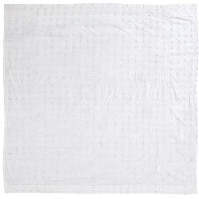 Adella 100% Cotton Shower Curtain Color: White