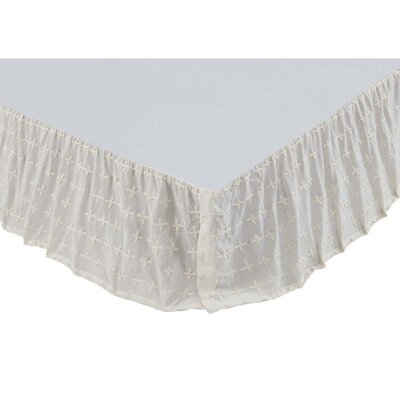 Adella Bed Skirt Color: Creme, Size: Queen