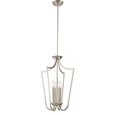 Dumbarton 4-Light Foyer Pendant Finish: Brushed  Nickel