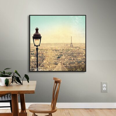 Eiffel Landscape Framed Graphic Art on Wrapped Canvas
