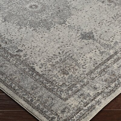 Mekhi Gray Area Rug Rug Size: Rectangle 76 x 106