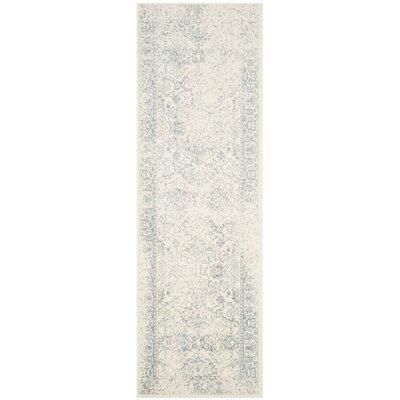 Issa Ivory/Slate Area Rug Rug Size: Runner 26 x 10
