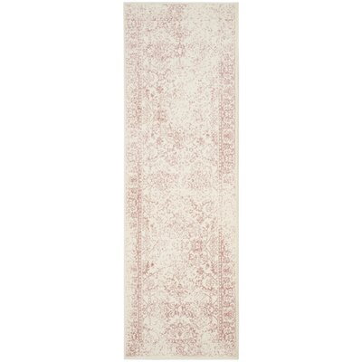 Issa Ivory/Rose Area Rug Rug Size: Runner 26 x 10