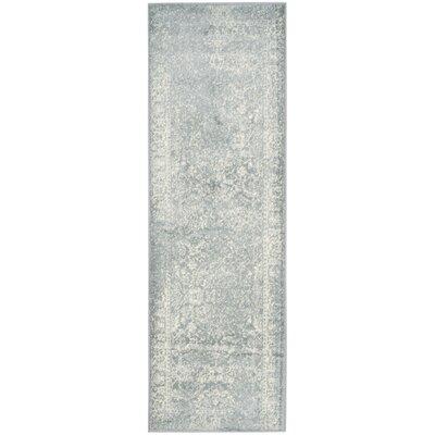 Issa Slate/Ivory Area Rug Rug Size: Runner 26 x 8
