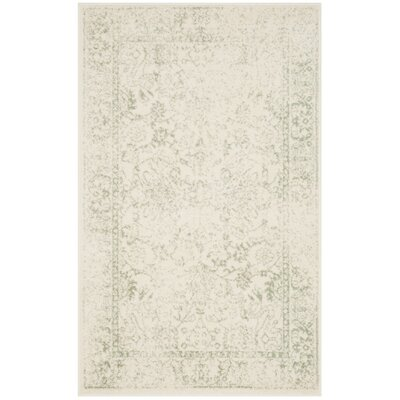 Issa Ivory/Sage Area Rug Rug Size: Rectangle 3 x 5