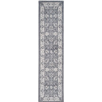 Carmel Dark Gray/Beige Area Rug Rug Size: 2 x 8