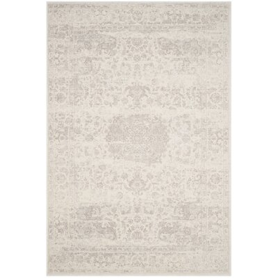 Akron Creek Cream/Light Gray Area Rug Rug Size: 4 x 6