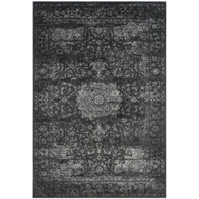 Akron Creek Dark Gray/Cream Area Rug Rug Size: 67 x 92
