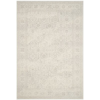 Akron Creek Cream/Light Gray Area Rug Rug Size: 4' x 6'