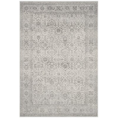 Akron Creek Light Gray/Gray Area Rug Rug Size: Rectangle 4 x 6