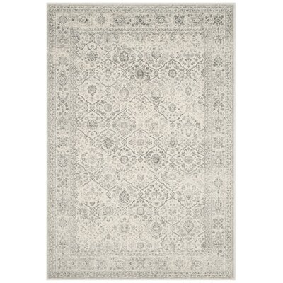 Akron Creek Cream/Dark Gray Area Rug Rug Size: Rectangle 51 x 76
