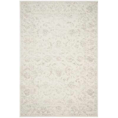 Akron Creek Cream/Light Gray Area Rug Rug Size: 51 x 76