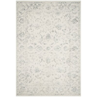 Akron Creek Cream/Gray Area Rug Rug Size: Rectangle 9 x 12