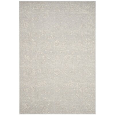 Akron Creek Light Gray/Cream Area Rug Rug Size: 67 x 92