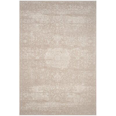 Akron Creek Light Beige/Cream Area Rug Rug Size: Rectangle 51 x 76