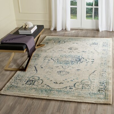 Montelimar Beige/Blue Area Rug Rug Size: Rectangle 8 x 10