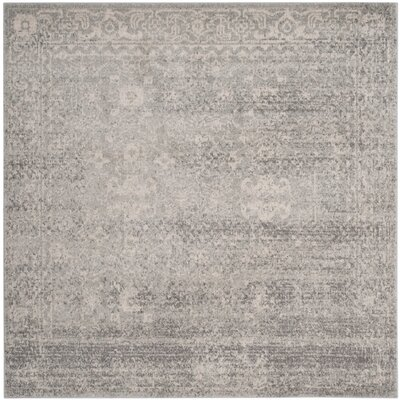 Montelimar Silver/Ivory Area Rug Rug Size: 51 x 51