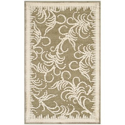 Fountain Swirl Hand-Loomed Beige/Gray Area Rug