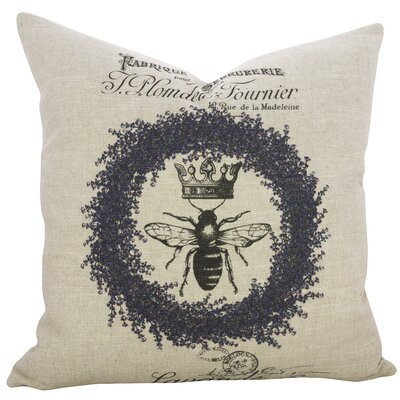 Alana Crest Linen Throw Pillow