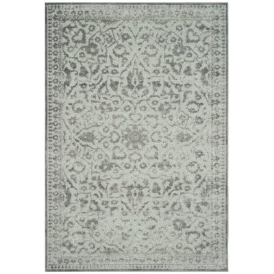 Ellicott Light Gray Area Rug Rug Size: Rectangle 53 x 76