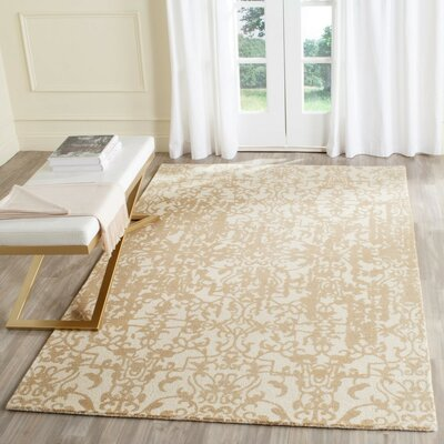 Ellicottville Hand-Tufted Ivory/Sand Area Rug Rug Size: Rectangle 4 x 6