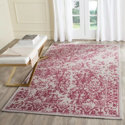 Ellicottville Hand-Tufted Silver/Purple Area Rug Rug Size: 4 x 6