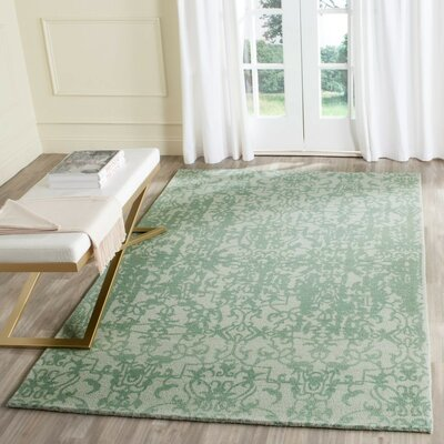Ellicottville Hand-Tufted Wool Area Rug Rug Size: Square 6