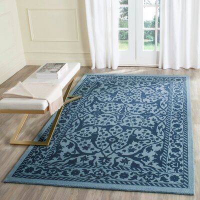 Ellicottville Hand-Tufted Navy Area Rug Rug Size: Square 6