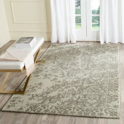Ellicottville Hand-Tufted Brown/Cream Area Rug Rug Size: Square 6