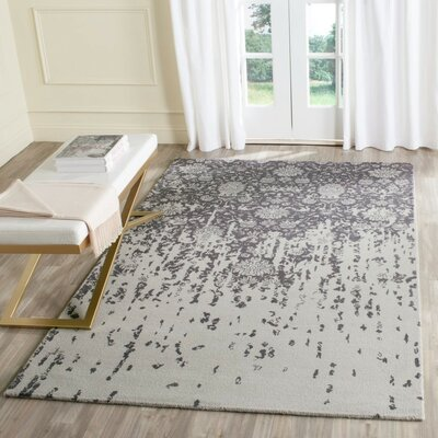 Ellicottville Hand-Tufted Brown/Gray Area Rug Rug Size: Square 6