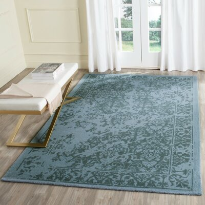Ellicottville Hand-Tufted Blue Area Rug Rug Size: Rectangle 5 x 8