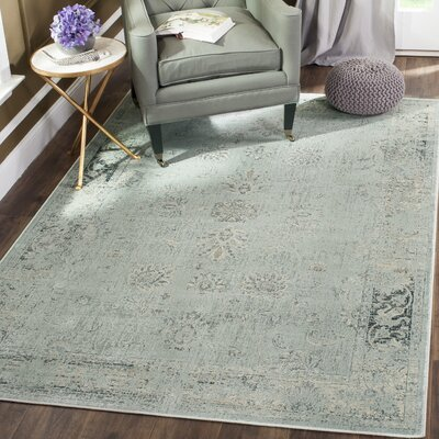 Malakoff Light Blue Area Rug Rug Size: Rectangle 67 x 92