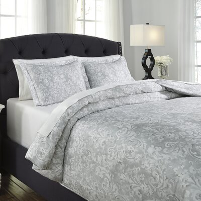 Nassim 3 Piece Duvet Cover Set Size: King