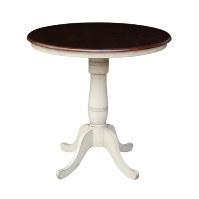 Saint-Mande 36 H Counter Height Pub Table Tabletop Size: 36 H x 36 W x 36 D, Finish: Linen White