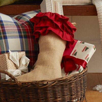 Lark Manor Ruffle Design Jute Stocking
