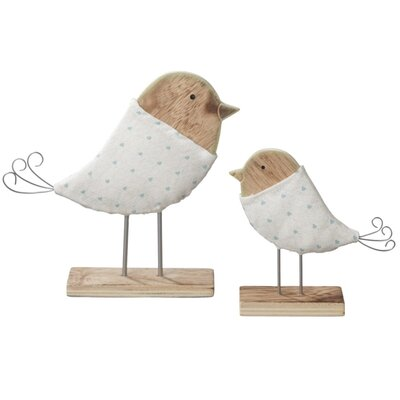 2 Piece Bird on Stand Figurine Set (Set of 2)