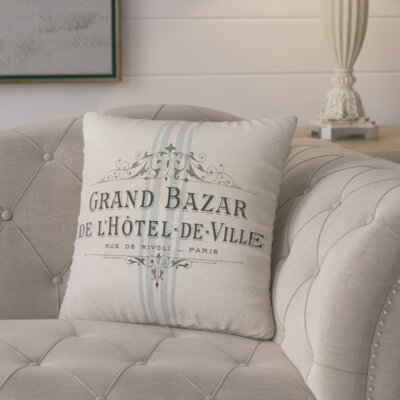 Mandragore French Linen Throw Pillow Size: 16 H x 16 W x 6 D